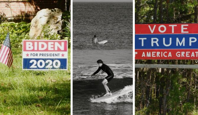 campaign signs, 2020 election,