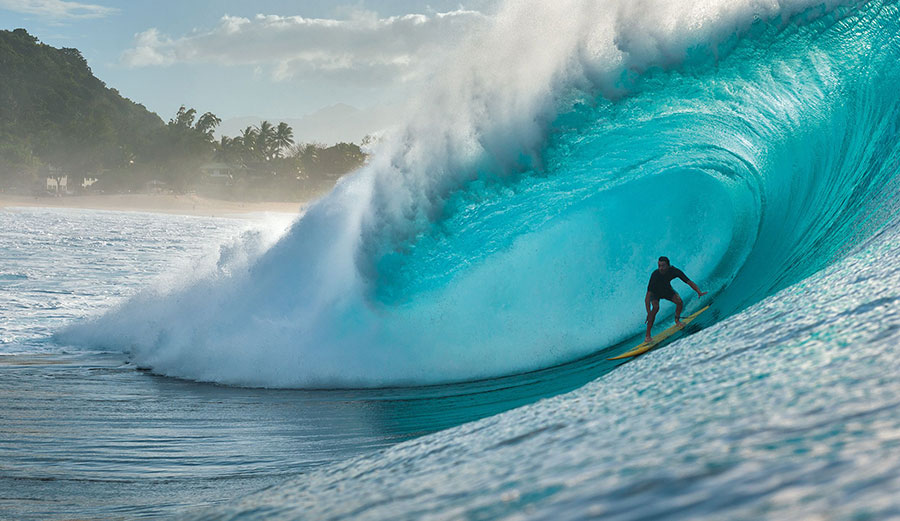 Surfer at Pipeline