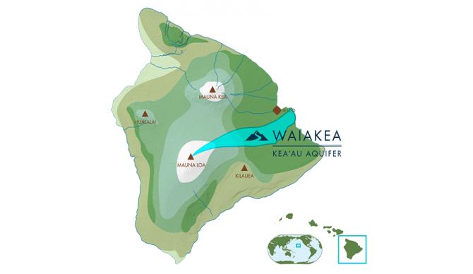 waiakea water map of aquafer