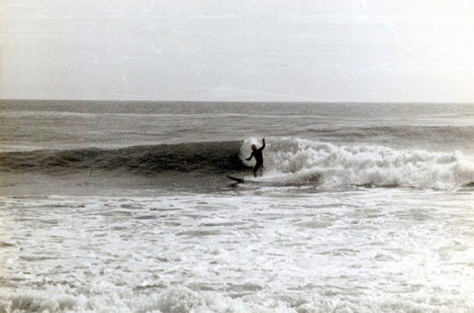 Nikolai Petrovich Popov surfing in California