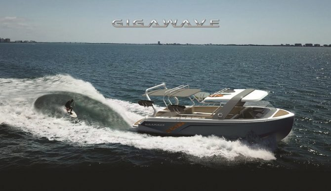 gigawave boat for wakesurfing