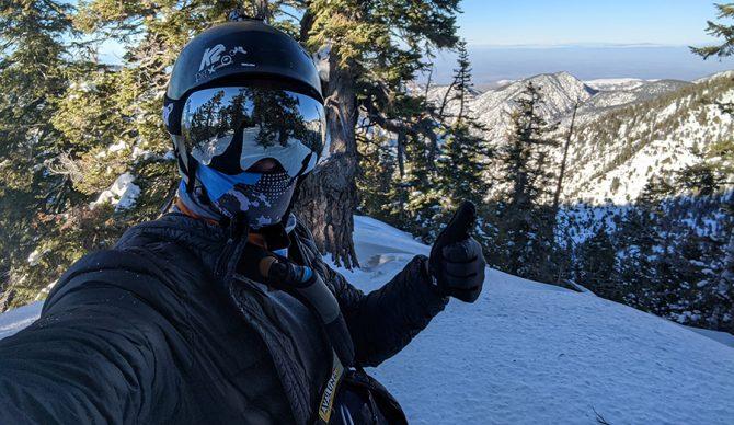 skiing mt. pinos near Los Angeles