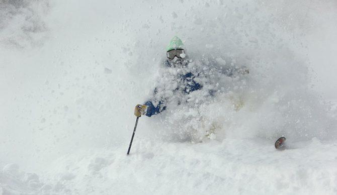 powder skiing at Hachimantai ski resort japan
