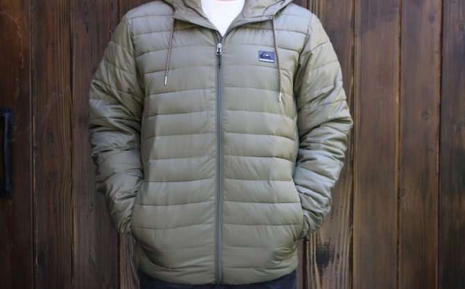 The Quiksilver Scaly Hooded Puffer Jacket