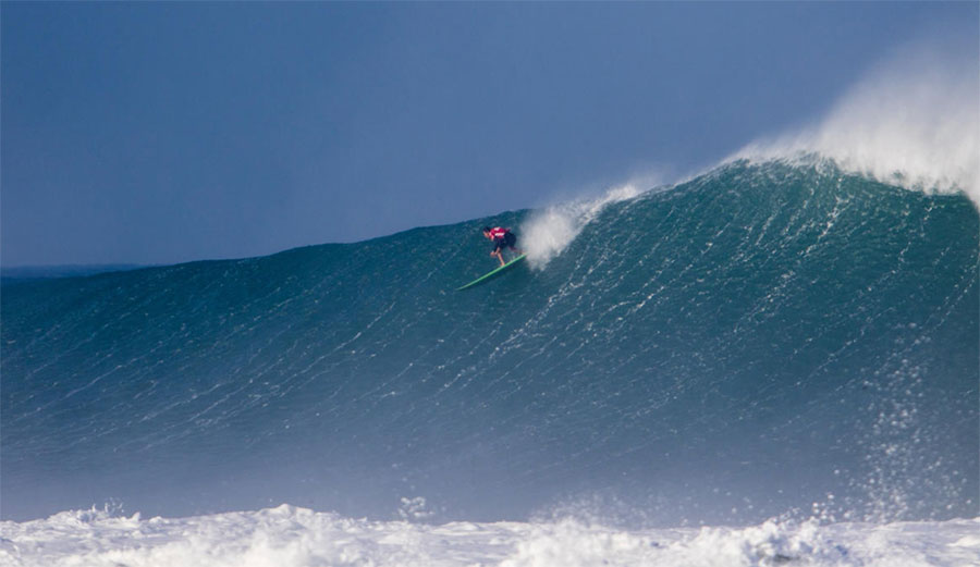 Greg Long in a 2016 big wave event at Puerto Escondido