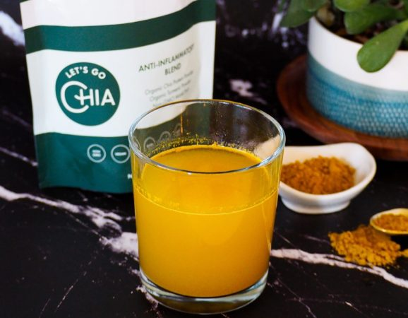 lets go chia anti inflammatory blend in hot water