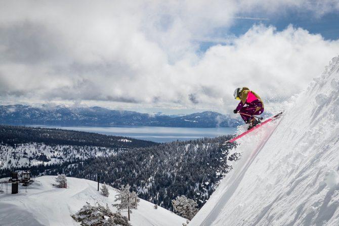 Amie Engerbretson skiing at squaw