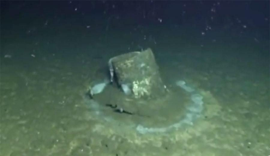 DDT barrel under water