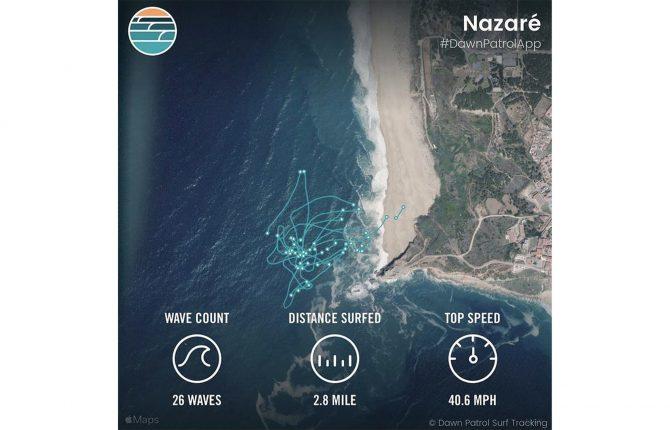 ridge lenny's surf session at Nazare