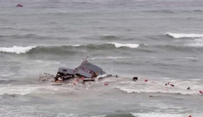 Boat Debris in surf