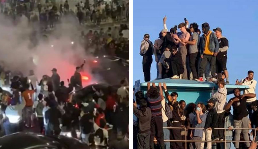 Riot in Huntington Beach