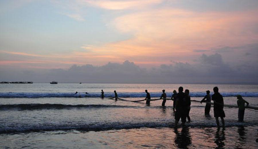 Artisanal fishing on Pangandaran Beach, Indonesia
