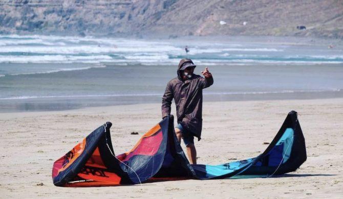 Ale Lanzarote Kite Surf in Action