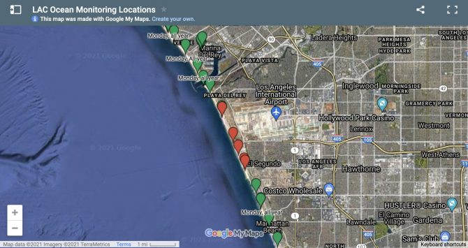 sewage spill affected areas map