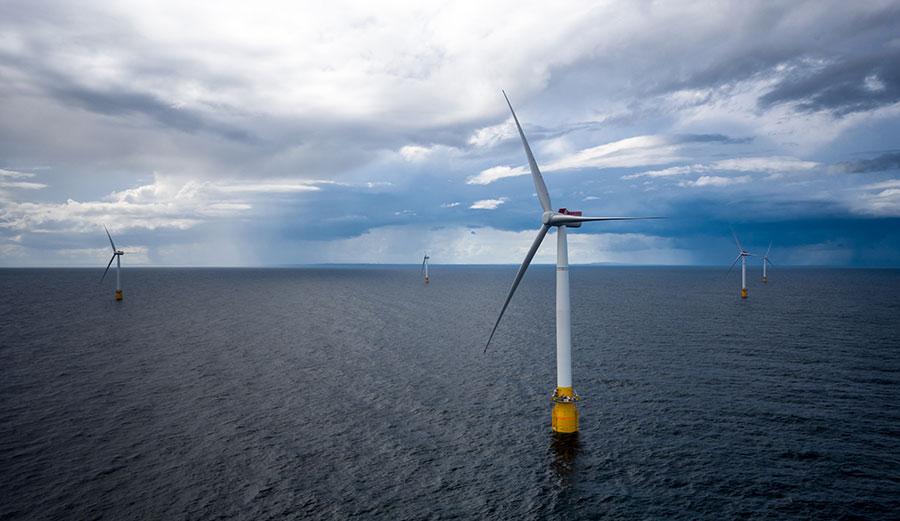 floating wind turbine farms