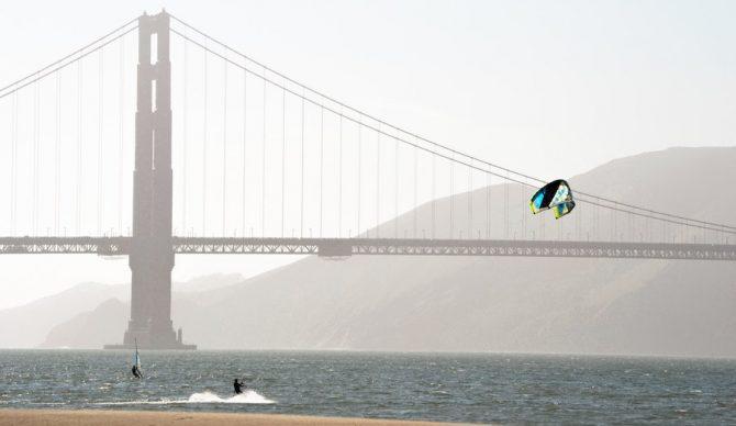 kiteboarding in front of the golden gate bridge claudia lorusso via unsplash