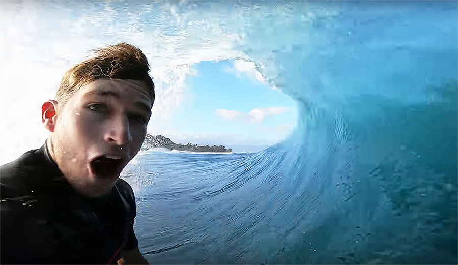 Nathan Florence surfing