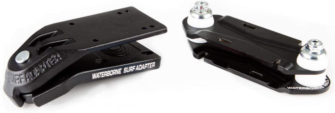 waterborne surfskate adapter and rail adapter